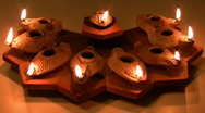 Stock Video Footage of Hanukia made of ancient clay olive oil lamps