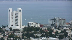 Sailing competition in downtown Haifa Stock Footage