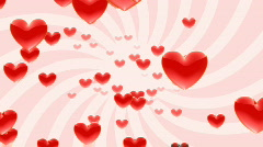 flying through red hearts HDTV - stock footage
