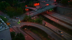 Seattle Highway Time Lapse at Night Stock Footage