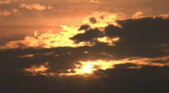 Stock Video Footage of Sunset with Clouds