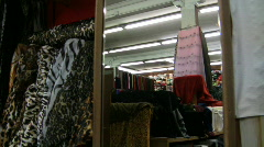 Fabric store - stock footage
