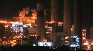 Stock Video Footage of Electric Plant at Night