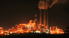 Power Plant Warm Glow Stock Footage