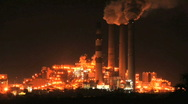 Stock Video Footage of Power Plant Warm Glow