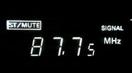 Radio tuning01 Stock Footage