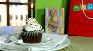 Birthday Cake and Candle Fade Stock Footage