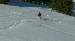 Skiing off-piste - stock footage