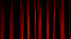 Red Stage Theater Drapes  - stock footage