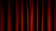 Stock Video Footage of Red Stage Theater Drapes
