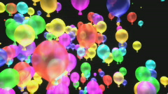3D Color Balloons - Depth of Field Blurred Stock Footage