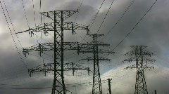 Hydro-electric towers.  Stock Footage