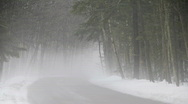 Stock Video Footage of Rural Road in Winter Fog3 hd