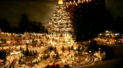 Christmas Miniature Village Panoramic Scan Stock Footage