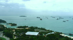 Strait of Malacca Stock Footage