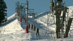 Ski lift 3 Stock Footage