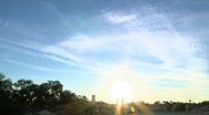 Suburban Sunset Stock Footage