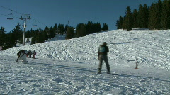 Skiing and Snowboarding - stock footage