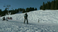 Skiing and Snowboarding Stock Footage