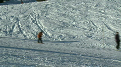 Skiing 5 Stock Footage