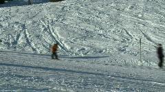Skiing 5 - stock footage