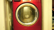 Stock Video Footage of Modern Front Loading Washing Machine