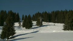 Skiing 3 - stock footage