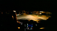 Night Time City Driving From Viewpoint of a Driver Stock Footage