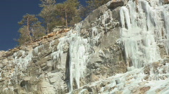 Icicle cliff side -1 Stock Footage