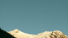 Snowy mountain tilt - stock footage