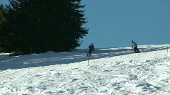 Skiing 6 - stock footage