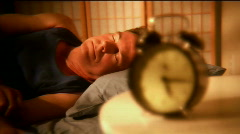 Man waking up Stock Footage