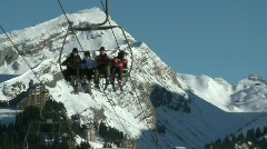 Ski lift 4 Stock Footage