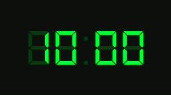 Countdown Clock 5, HD Stock Footage
