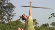 Exercise Hula-Hoop Stock Footage