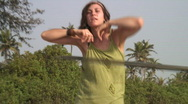 Hula-Hoop exercise Stock Footage