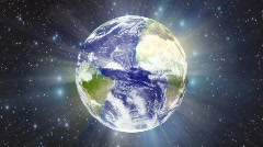 Earth Light Rays background - stock footage