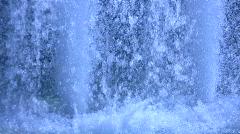 Blue water splash Stock Footage