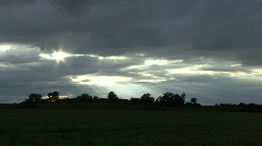Time lapse - crepuscular rays. Stock Footage