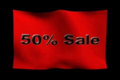 50 prcnt Sale 2 Stock Footage