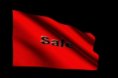 Sale Blk on Red 2 Stock Footage