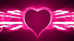 Loopable valentine's day energy heart abstract 1080p Stock Footage