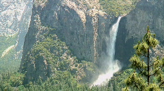 Bridalveil Fall, Yosemite National Park Stock Footage