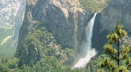 Stock Video Footage of Bridalveil Fall, Yosemite National Park