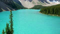 Moraine Lake, Banff National Park Stock Footage