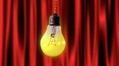 Bulb light pendulum Stock Footage