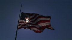 United States flag half mast 1 HD - stock footage