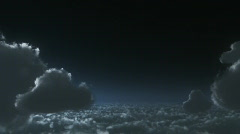 Flying above clouds,movie intro Stock Footage