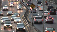 Car Traffic  on Highway 3 - stock footage
