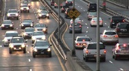 Car Traffic  on Highway 3 Stock Footage